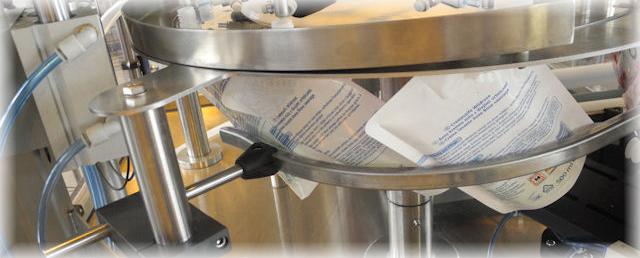 pouchfiller afvulmachine