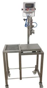 vloeistofafvulmachine, gravimetrisch, op gewicht, afvullen, afvulmachine, vulmachine