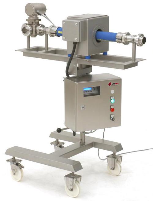 metaaldetectie, vloeistofcontrole, metaaldetector vloeistoffen, pijpleidingen, metaaldetector, detectiesysteem, vloeistoffen